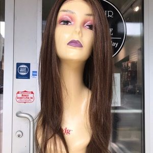 Accessories - Wig brown 6X6 Freepart swisslace lacefront 2019